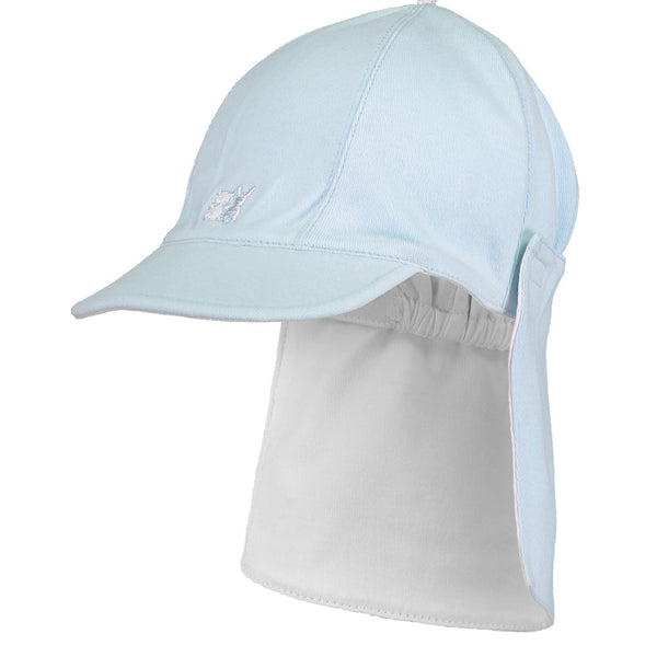 Emile et Rose Blue sun cap with detachable flap