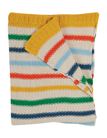 Frugi Cuddle up blanket - rainbow stripe