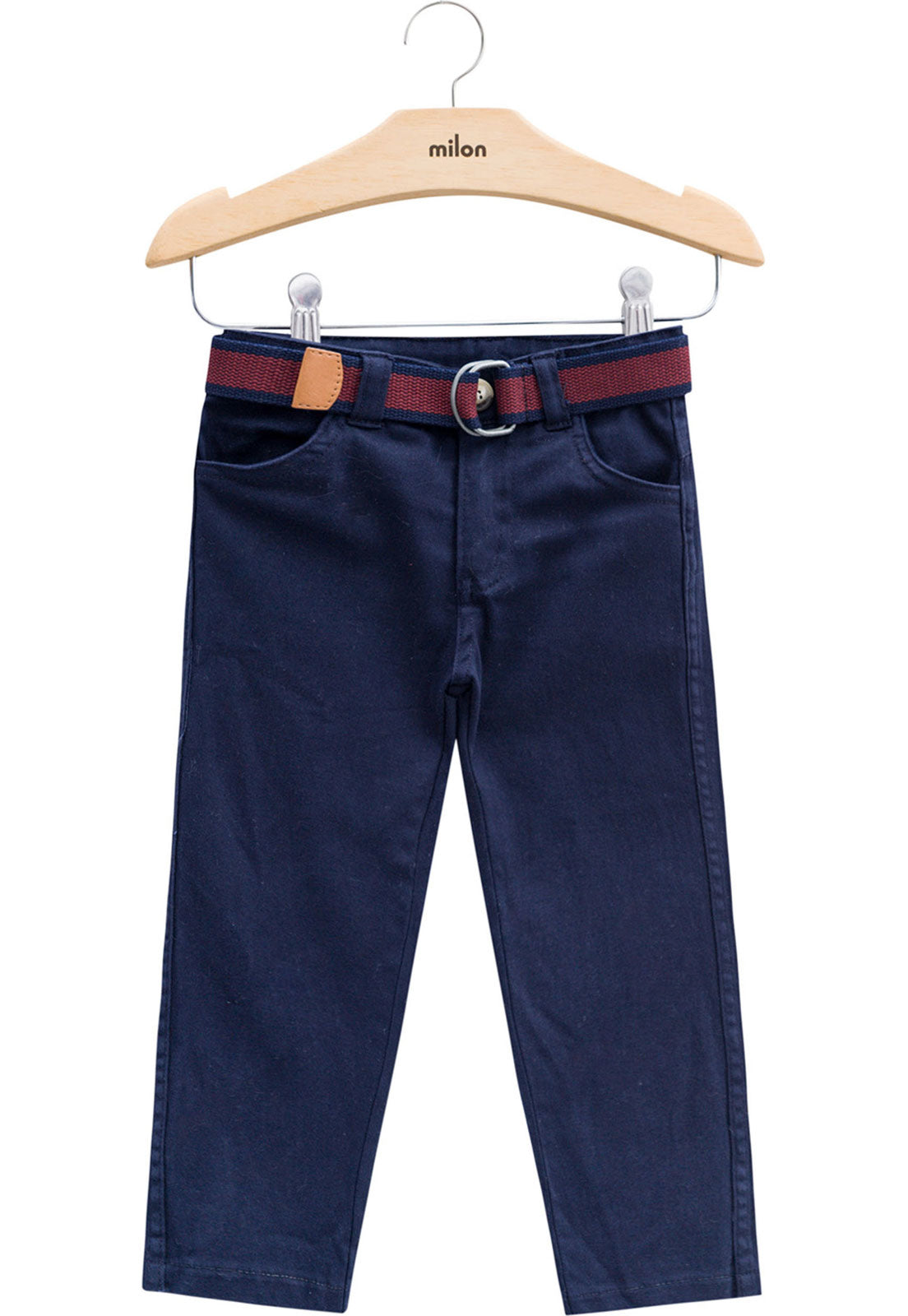 Milon navy belted trousers 12246