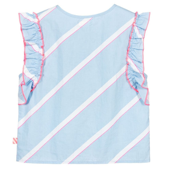 Billieblush Blue Striped Cotton Blouse