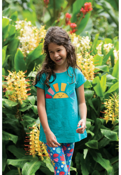 Frugi Lizzie rainbow top