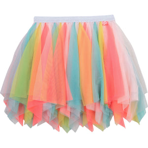 Billieblush rainbow tulle skirt