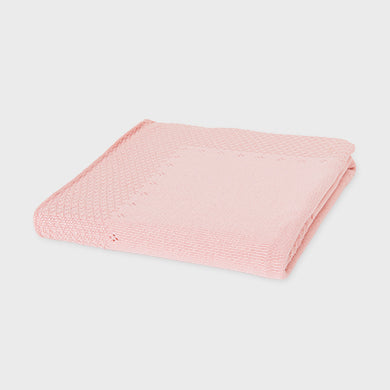 Mayoral pink knit blanket 9852