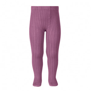Condor Ribbed Tights -Cassis 669