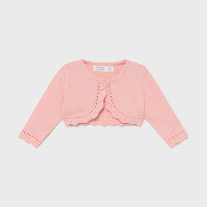 Mayoral pink crop cardigan 318