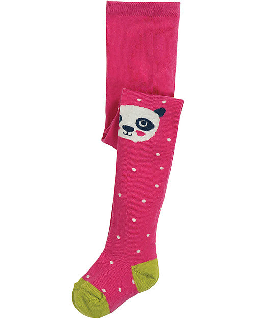 Frugi fun knee flamingo spot panda tights