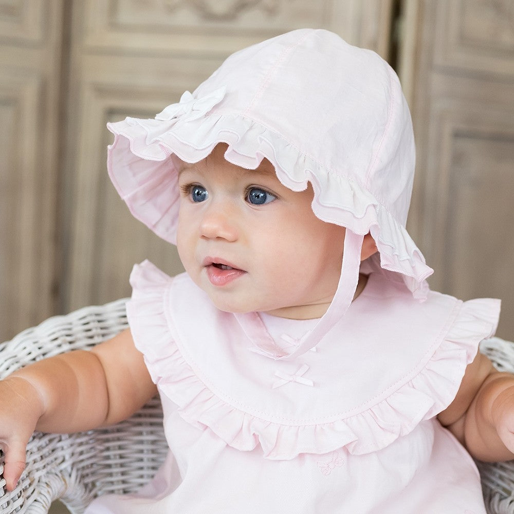 Emile et Rose Pink Bow sunhat