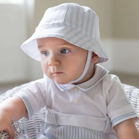 Emile et Rose Blue stripe sunhat