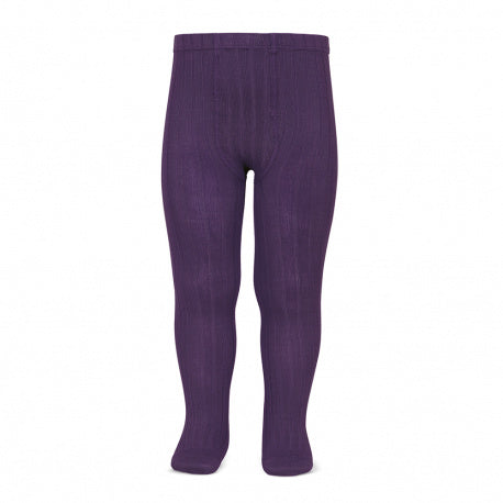 Condor Ribbed Tights - Aubergine 180