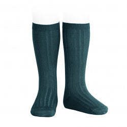 Condor Ribbed Socks - Petrol 424