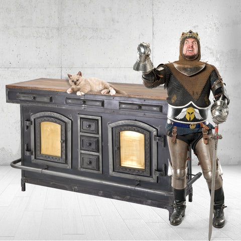 LOOMLAN mancave home bar station steampunk boiler home bar furniture for game and entertainment room