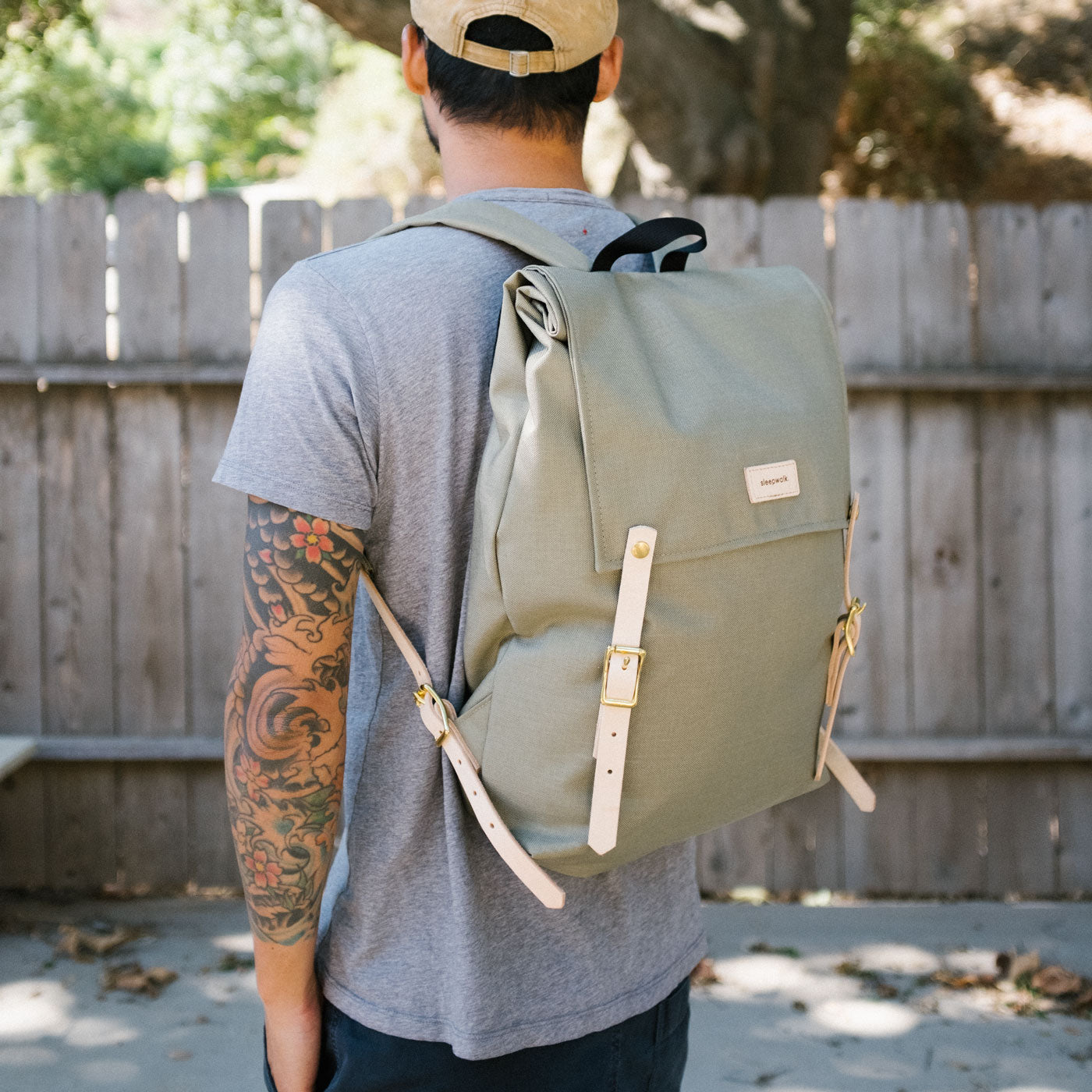 Canoe Pack - Sage Tan