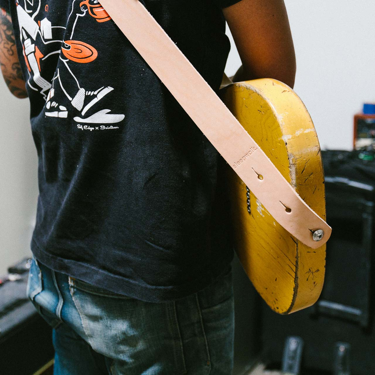 TT Signature Guitar Strap - Black Premium Harness