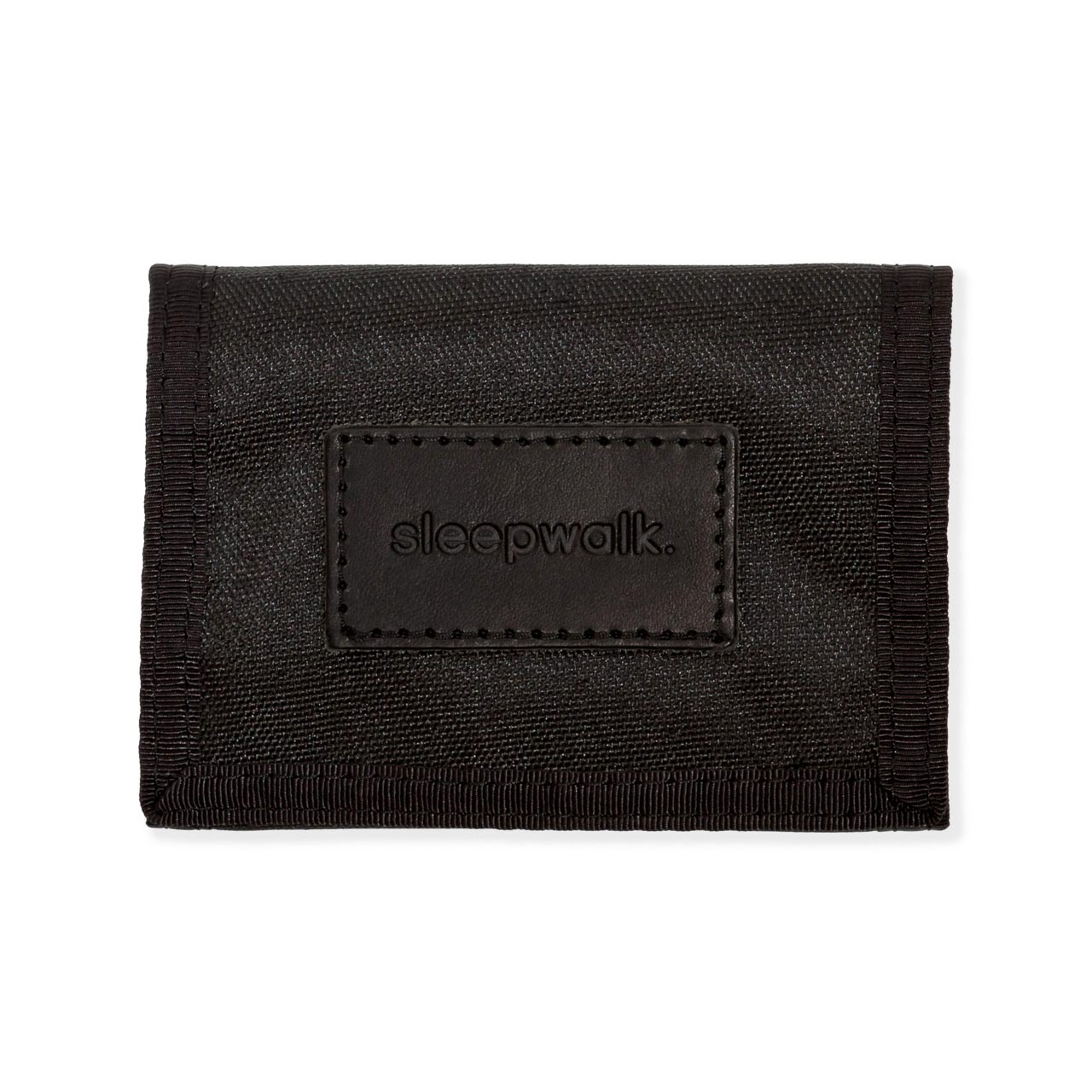 Tri Fold Wallet and Key Fob: Black Bundle