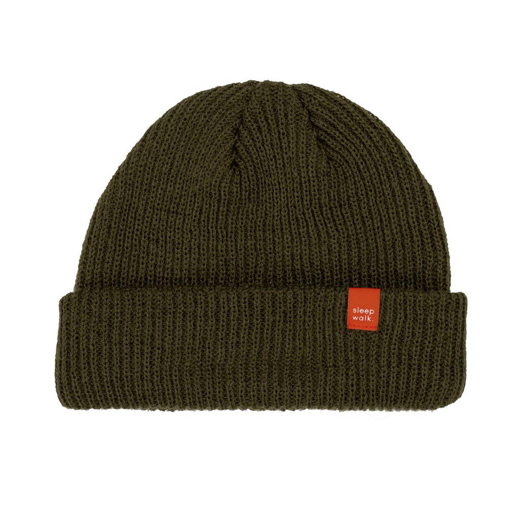 sleepwalk ltd red label beanie army green