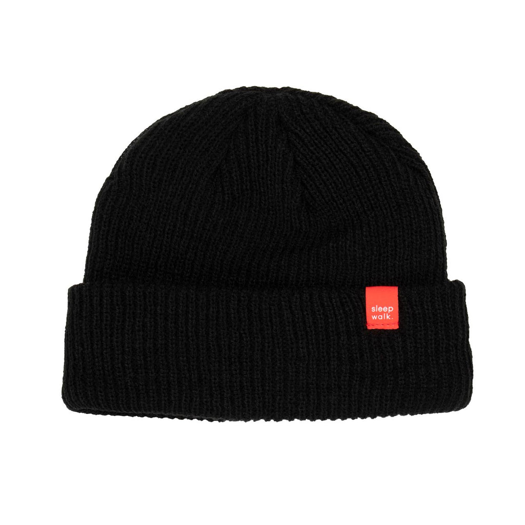 sleepwalk ltd beanie black red label