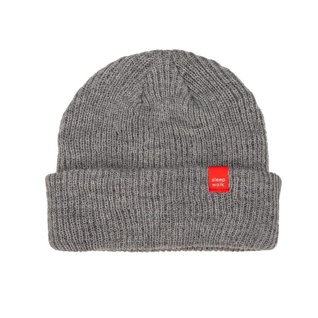 sleepwalk ltd beanie grey red label