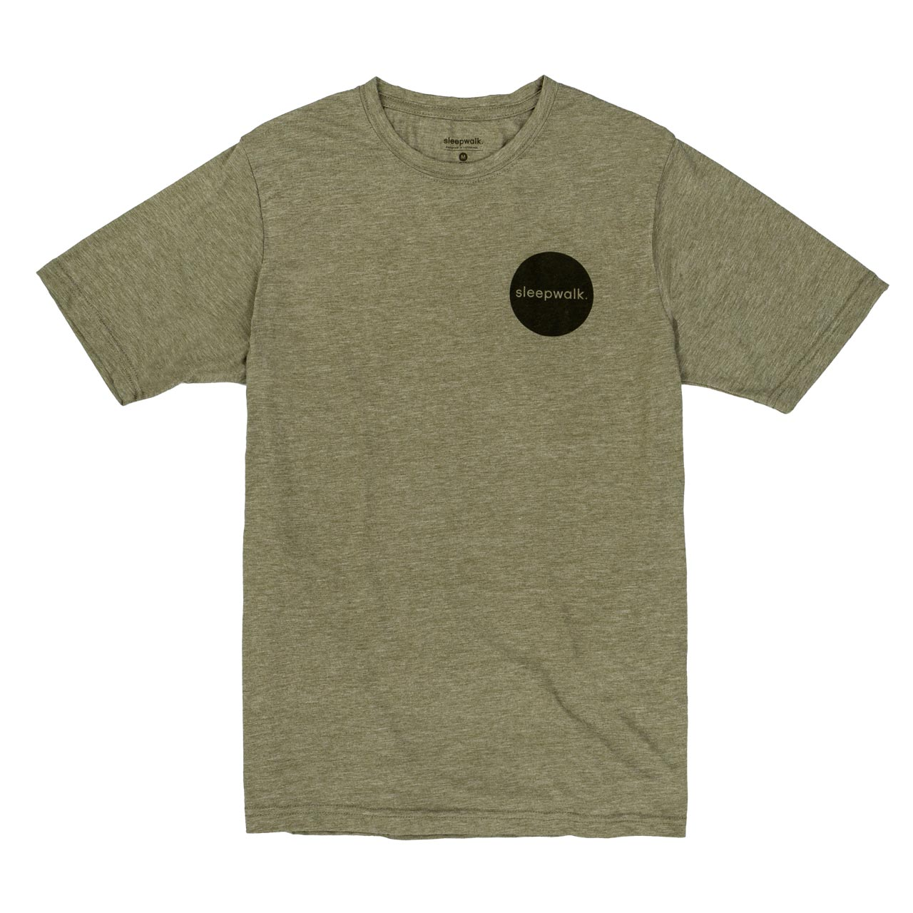 sleepwalk ltd t shirt circle logo army green