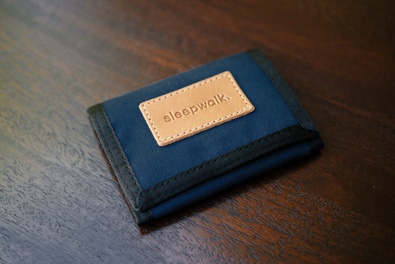 Sleepwalk Tri Fold Wallet Navy