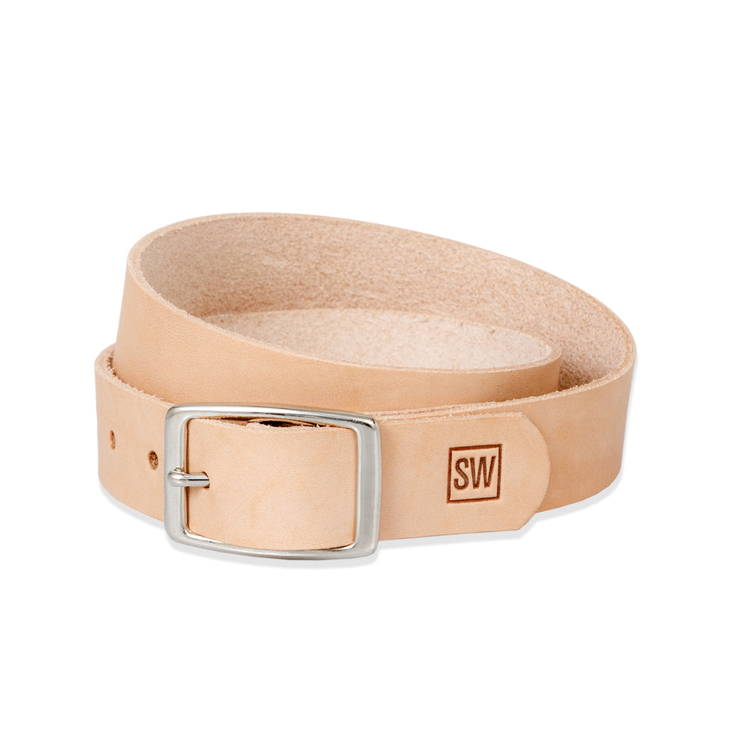 sleepwalk ltd slim belt natural veg tan