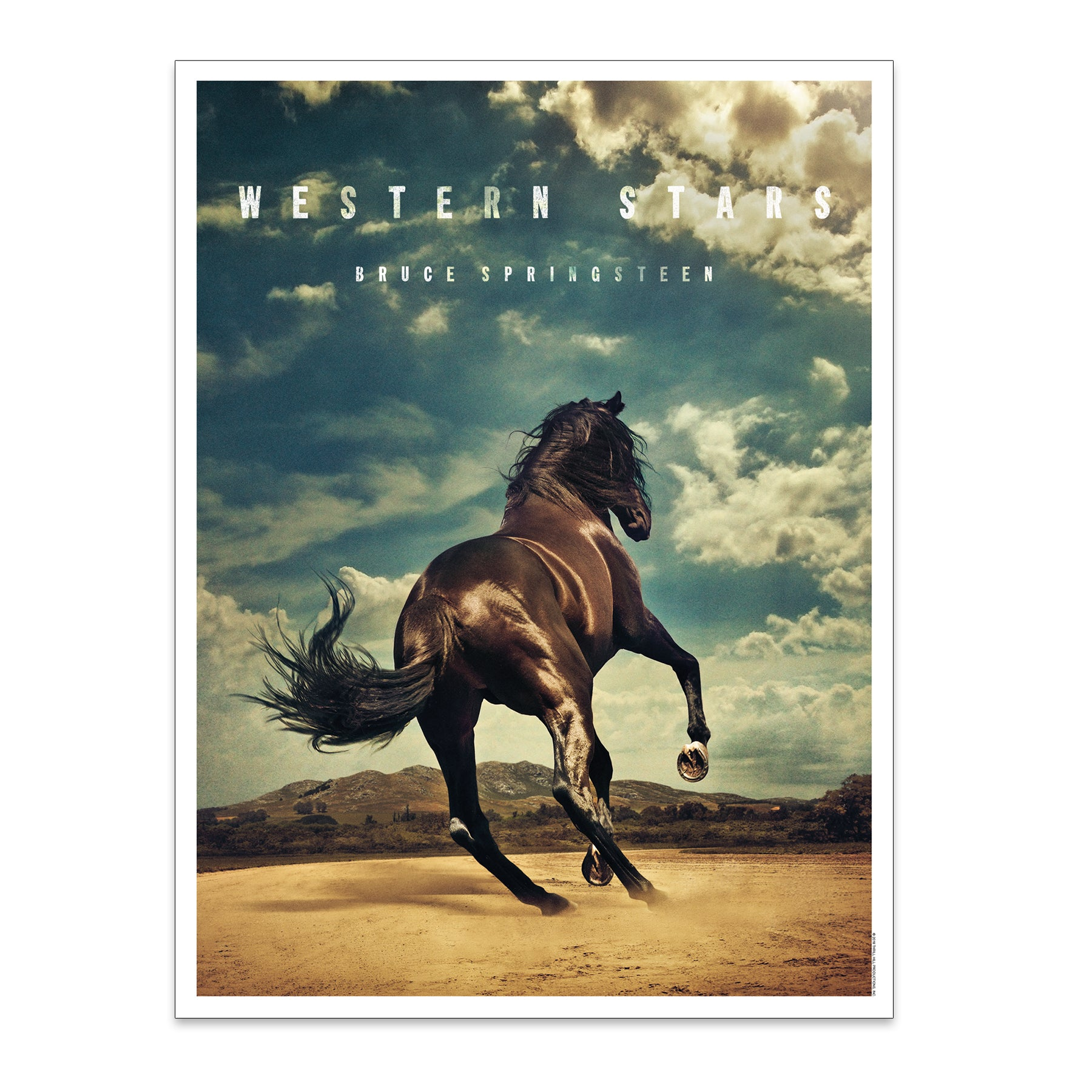 Western Stars Album Cover Lithograph