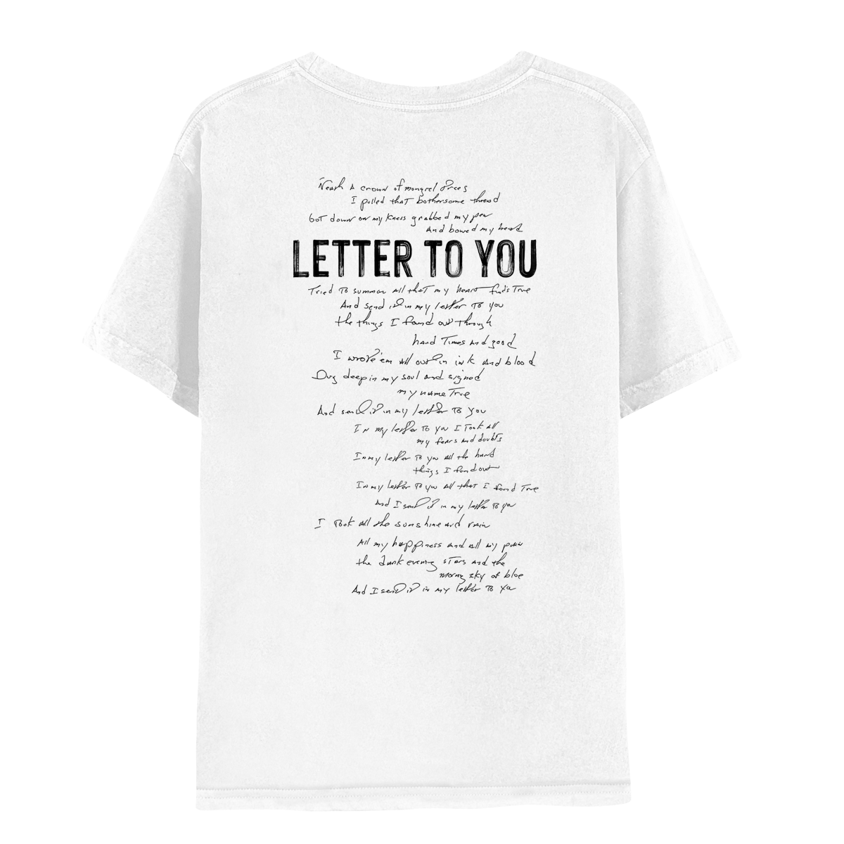 Letter To You Lyric Tee
