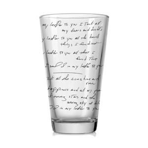 Letter To You Printed Pint Glass