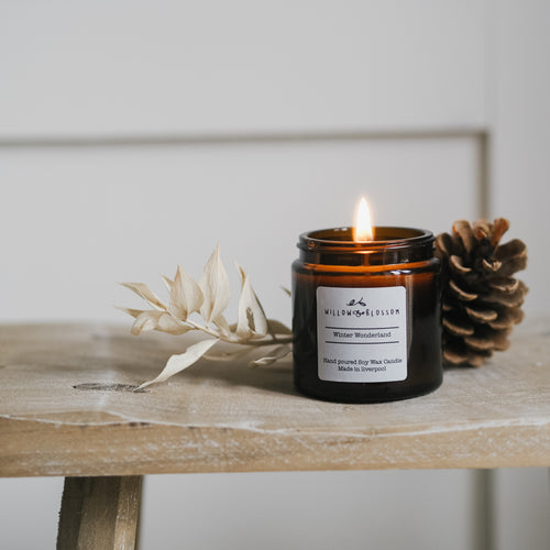 Winter Wonderland Amber Jar Candle