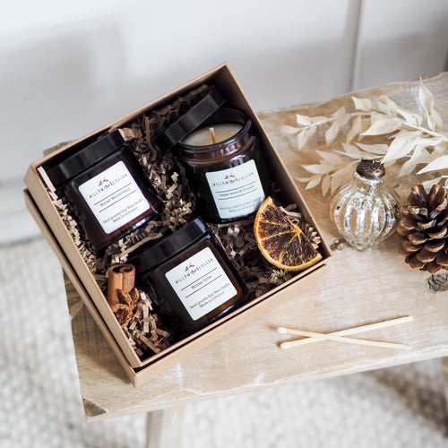 Winter Candle trio gift set