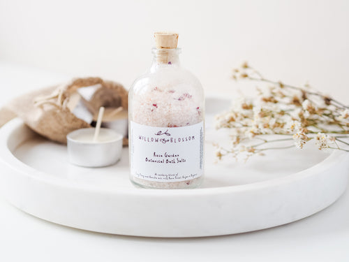 Rose Garden Botanical Bath Salts Large Bottle