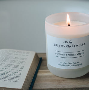 Jasmine & White Amber Luxury Candle