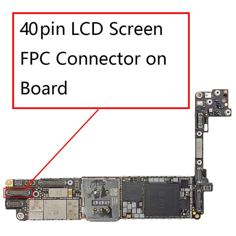 iPhone 8 LCD Screen FPC Connector on Board 40Pin | myFixParts.com