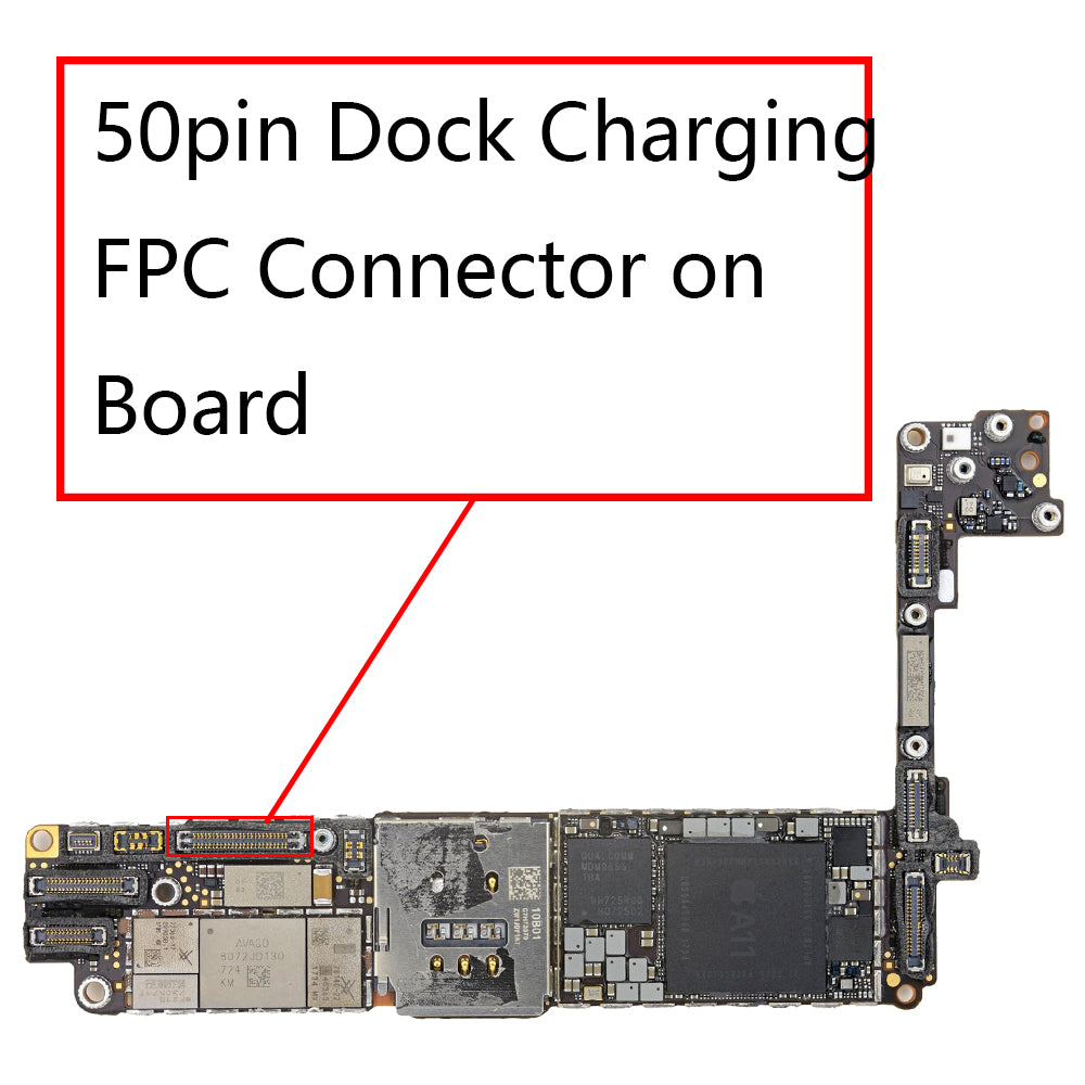 OEM 50pin Dock Charging FPC Connector on Board for iPhone 8