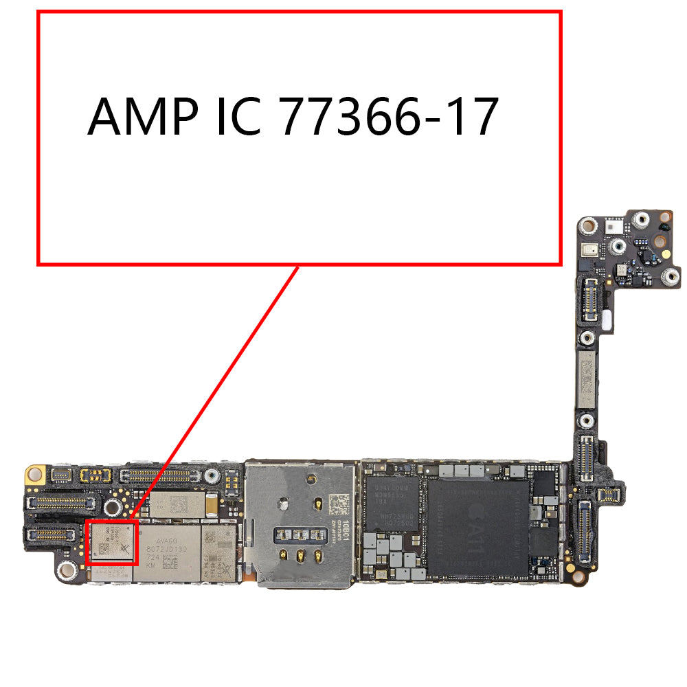 OEM AMP IC 77366-17 for iPhone 8 8Plus