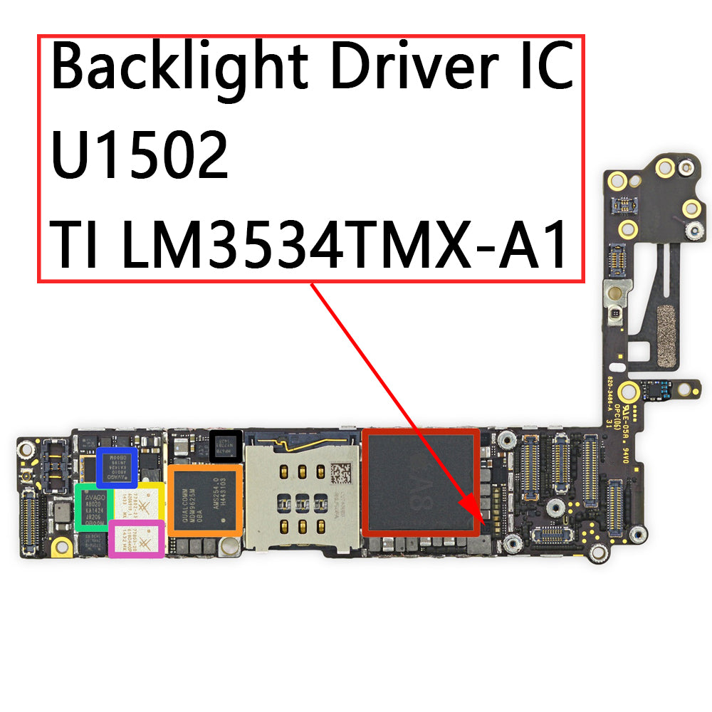 OEM Backlight Driver IC U1502 12Pin for iPhone 6 6Plus