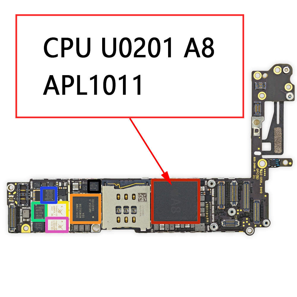 OEM A8 CPU U0201 APL1011 for iPhone 6 6Plus