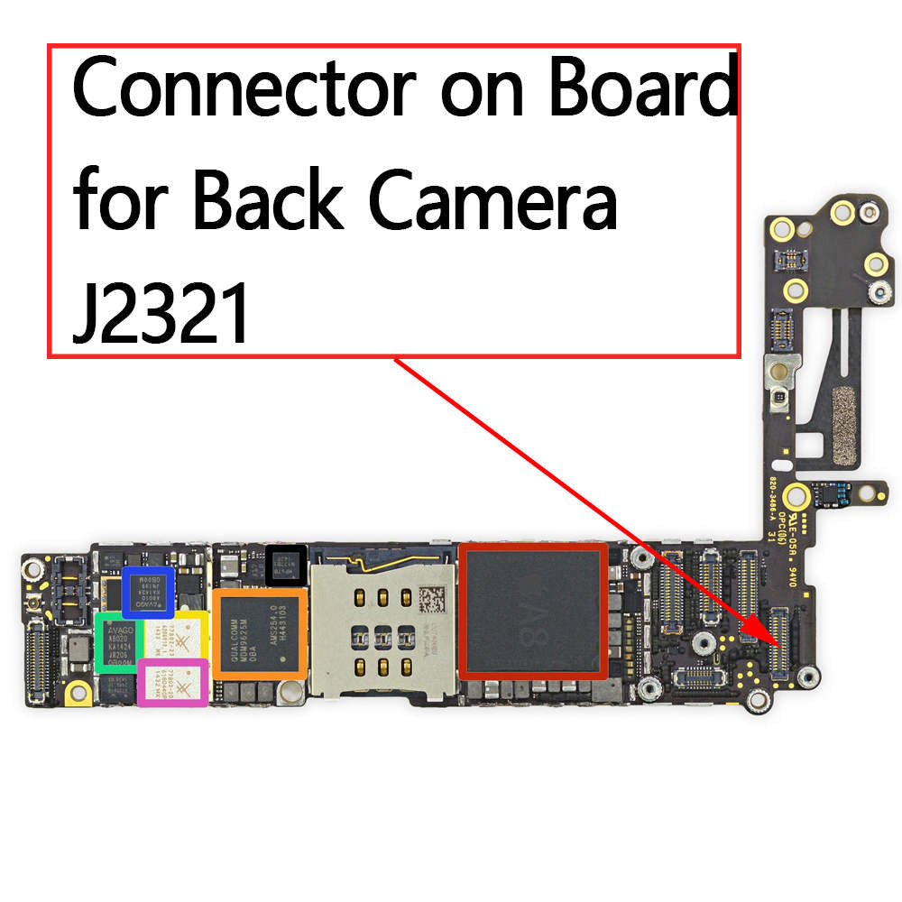 OEM 34pin Back Camera FPC Connector on Board for iPhone 6