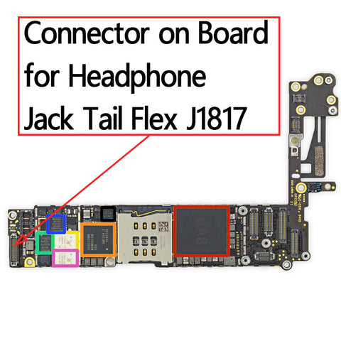 OEM 36pin Earphone Jack FPC Connector on Board for iPhone 6