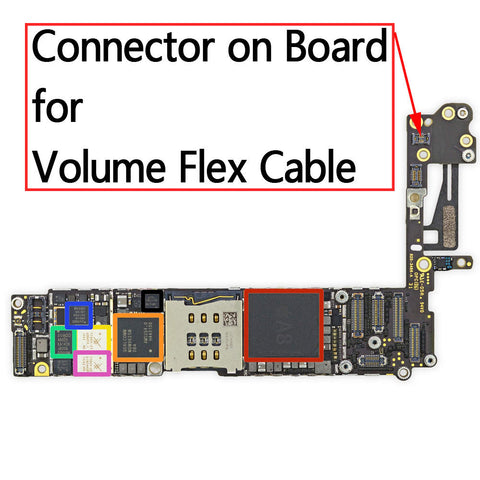 OEM 6pin Volume Button FPC Connector on Board for iPhone 6