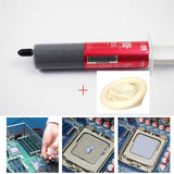 Silicone Grease Syringe Thermal Paste + Rubber Finger Cots for CPU IC Chip