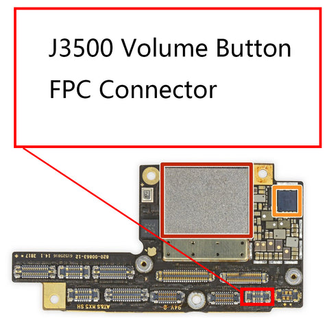 OEM J3500 Volume Button FPC Connector on Board for iPhone X