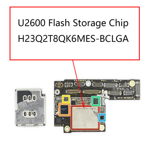iPhone XS XS Max U2600 Flash Chip EMMC | myFixParts.com