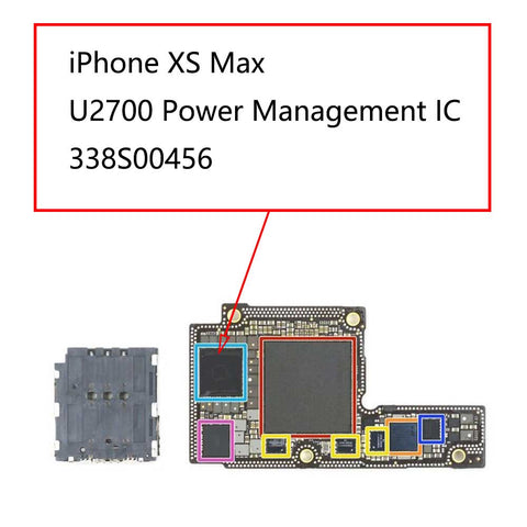 iPhone XS Max U2700 Power Management IC 338S00456 | myFixParts.com