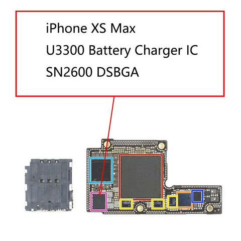 iPhone XS Max U3300 Battery Charger IC SN2600B2 | myFixParts.com