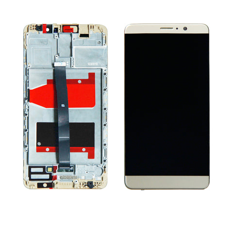 OEM LCD Screen and Digitizer Assembly with Frame for Huawei Mate 9 -Gold