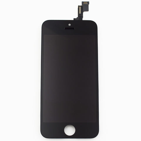 Aftermarket LCD Screen and Digitizer Assembly with Bezel for iPhone 5S -Black