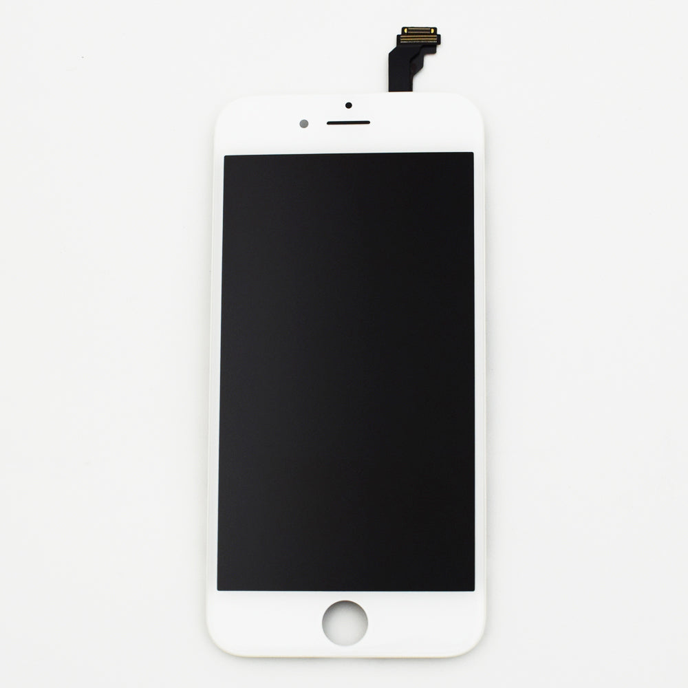Aftermarket LCD Screen and Digitizer Assembly with Bezel for iPhone 6 -White