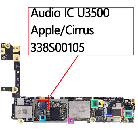 OEM Audio IC U3500 Cirrus 338S00105 for iPhone 6S / 6S Plus