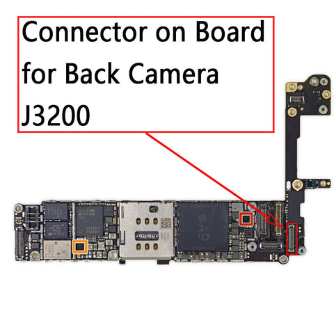 OEM 34Pin Back Camera FPC Connector on Board for iPhone 6S / 6S Plus