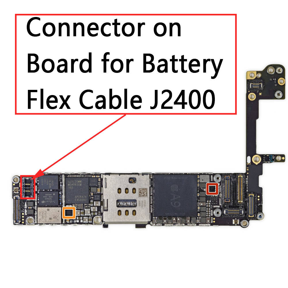 OEM Battery Connector Clip on Board for iPhone 6S / 6S Plus